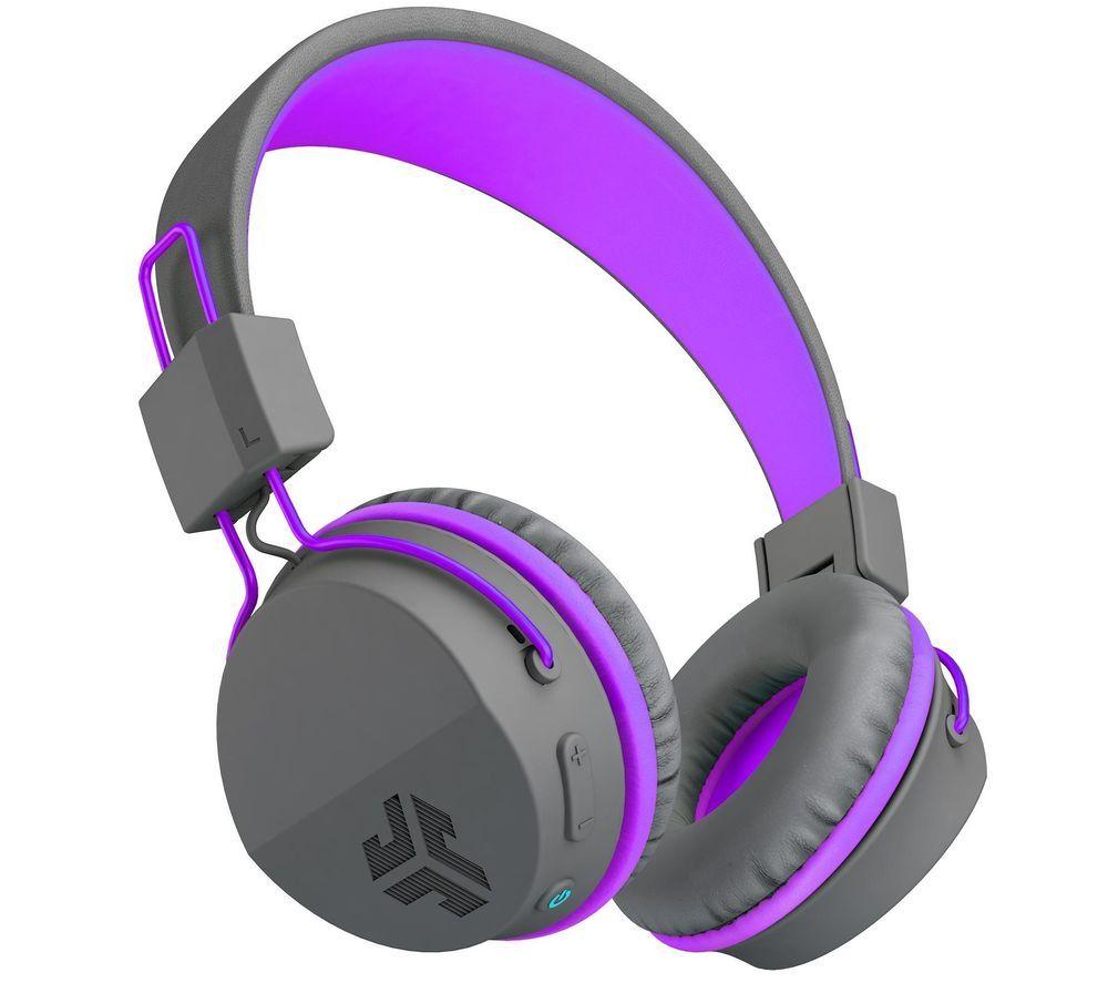 JLAB AUDIO JBuddies Studio Wireless Bluetooth Kids Headphones - Purple