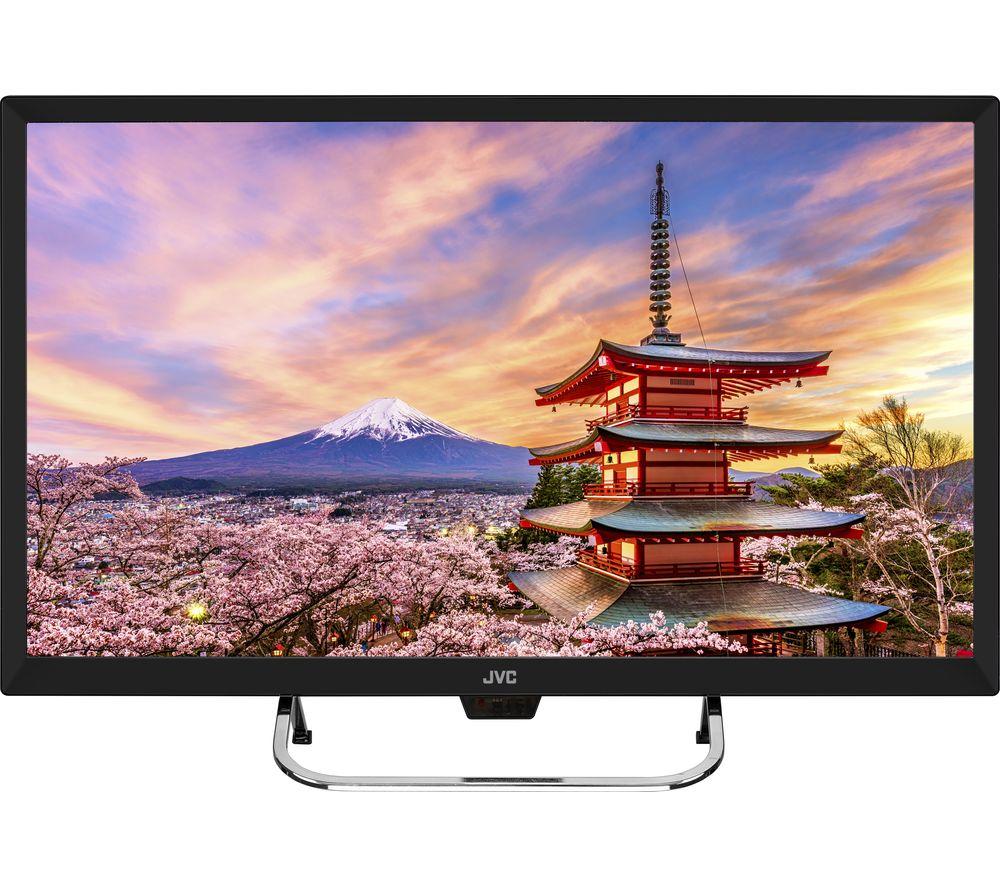 "24"" JVC LT-24C490  HD Ready LED TV - Black, Black"
