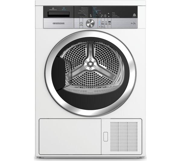 Image of GRUNDIG AirTouch GTN38250TGCW 8 kg Heat Pump Tumble Dryer - White