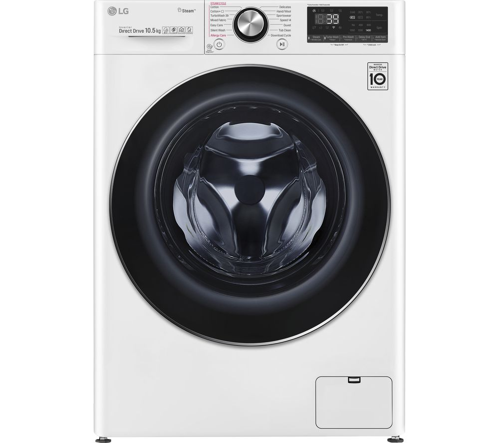 LG TurboWash 360 with AI DD V9 F4V910WTS WiFi-enabled 10.5 kg 1400 Spin Washing Machine - White