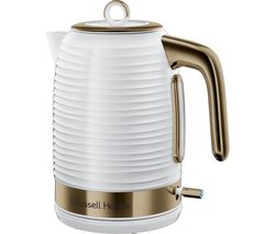 Inspire Luxe Jug Kettle - White & Brass