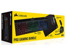 CORSAIR Pro Gaming Keyboard, Mouse, Headset & Mouse Mat Bundle