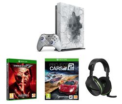 MICROSOFT Limited Edition Gears 5 Xbox One X, Tekken 7, Project Cars 2 & Stealth 600 Wireless Gaming Headset Bundle