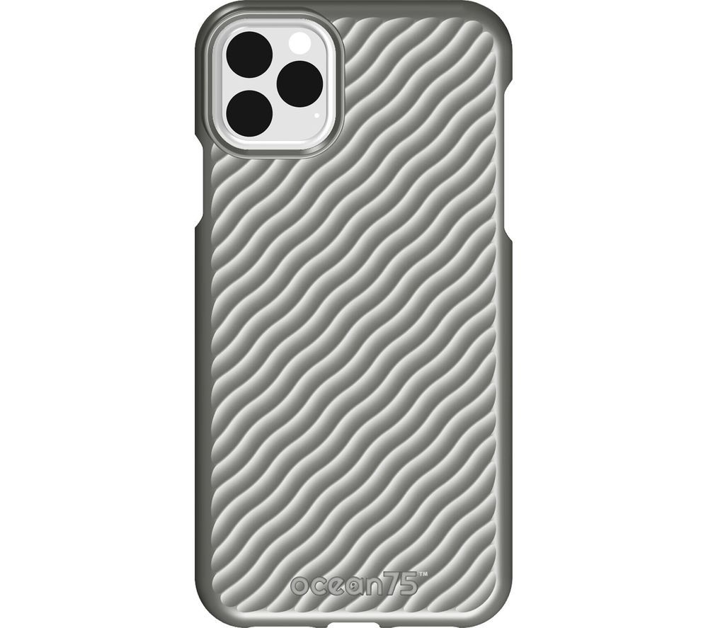 Image of Ocean Wave iPhone 11 Pro Max Case - Dolphin Grey, Grey