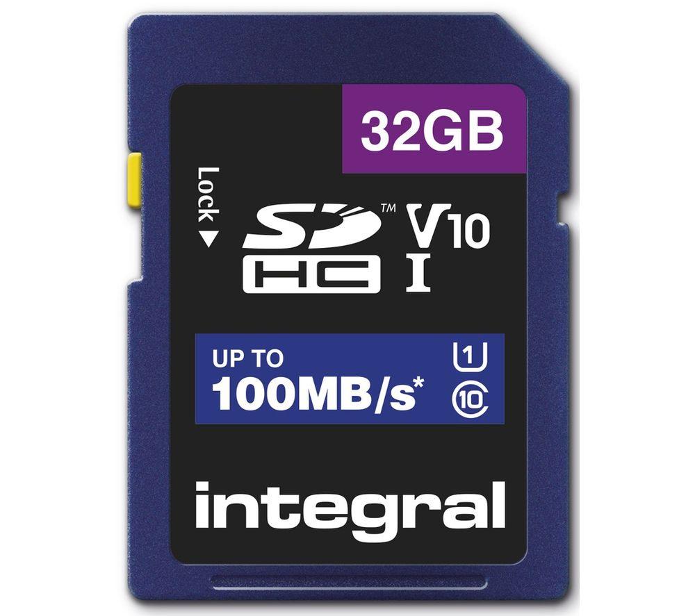 INTEGRAL V10 Class 10 SD Memory Card - 32 GB