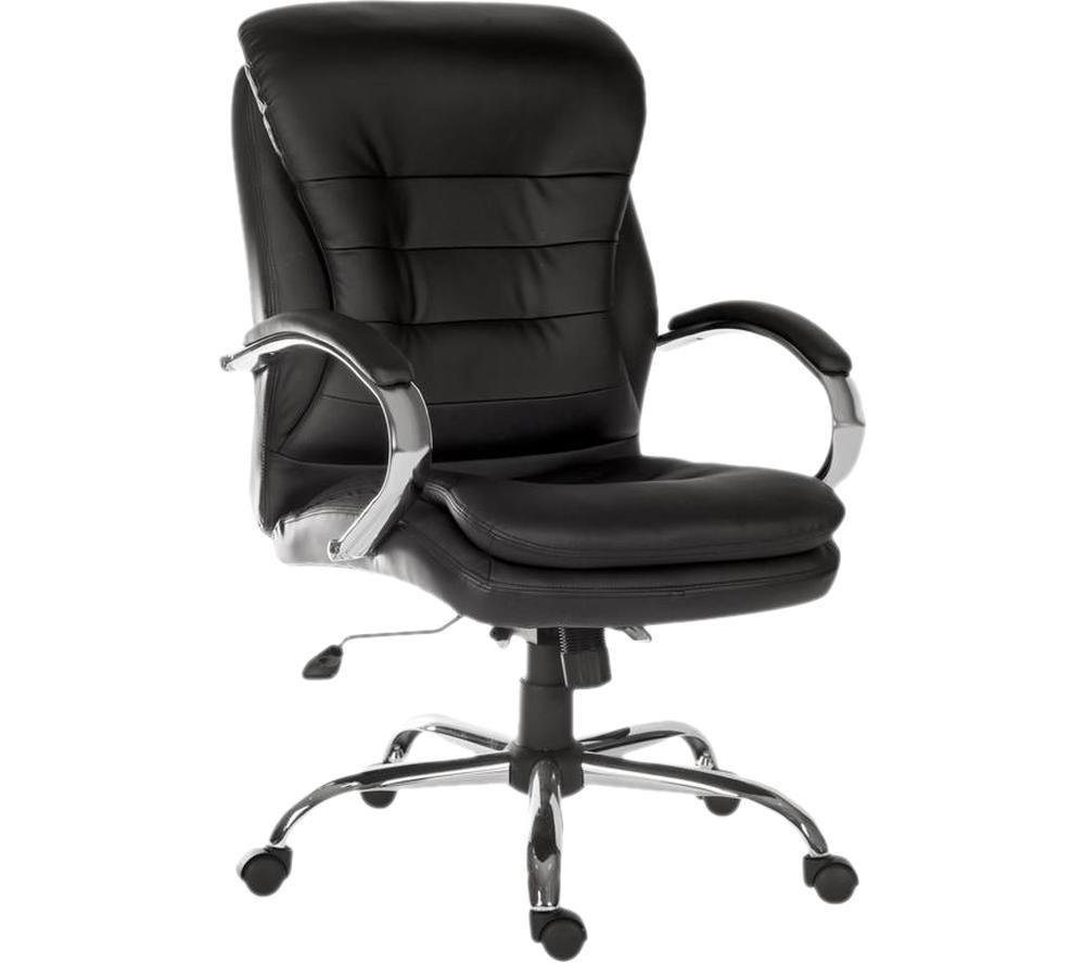 TEKNIK Goliath Light 6957 Bonded Leather Reclining Executive Office Chair - Black