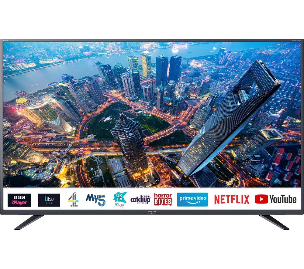 """Image of 50"""" SHARP 4T-C50BJ4KF2FB Smart 4K Ultra HD HDR LED TV"""