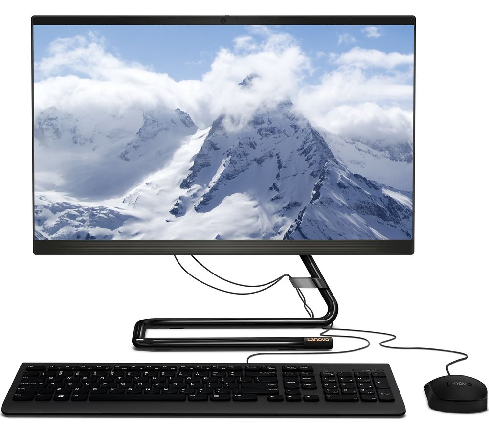 "LENOVO IdeaCentre AIO 3 21.5"" All-in-One PC - AMD Athlon Silver, 128 GB SSD, Black"