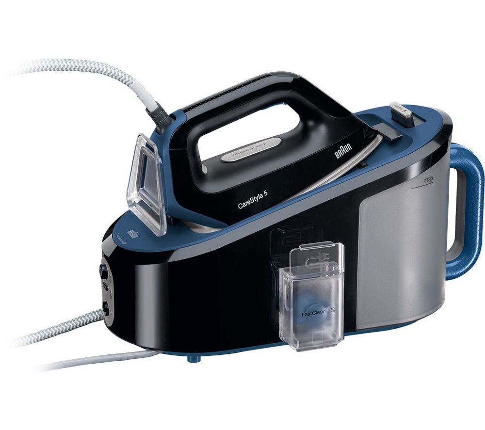 Image of BRAUN CareStyle 5 IS5146BK Steam Generator Iron - Black & Blue, Braun
