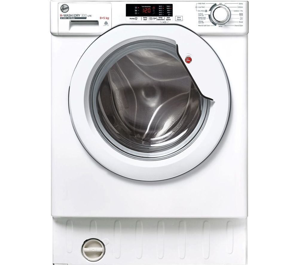 HOOVER H-Wash 300 HBD 485D2E Integrated 9 kg Washer Dryer - White, White