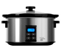 James Martin ZX929 Slow Cooker - Black & Silver