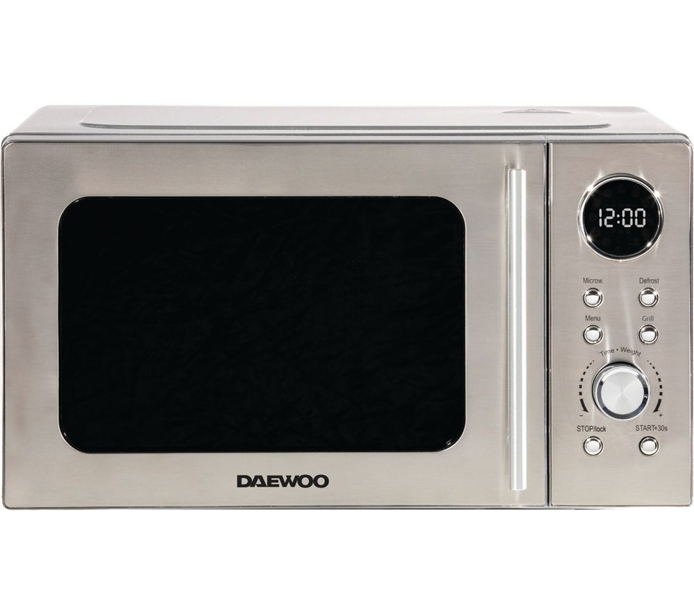 Daewoo Sda2071 Microwave With Grill Silver Silver
