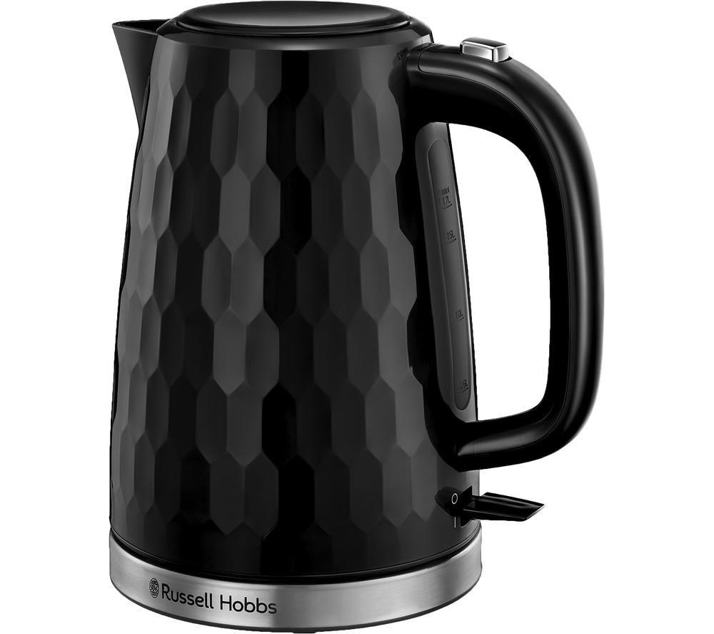 RUSSELL HOBBS Honeycomb 26050 Jug Kettle - Black, Black