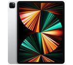£1099, APPLE 12.9inch iPad Pro (2021) - 256 GB, Silver, iPadOS, Liquid Retina XDR display, 256GB storage: Perfect for saving pretty much everything, Battery life: Up to 10 hours, Compatible with Apple Pencil (2nd generation) / Magic Keyboard / Smart Keyboard Folio,