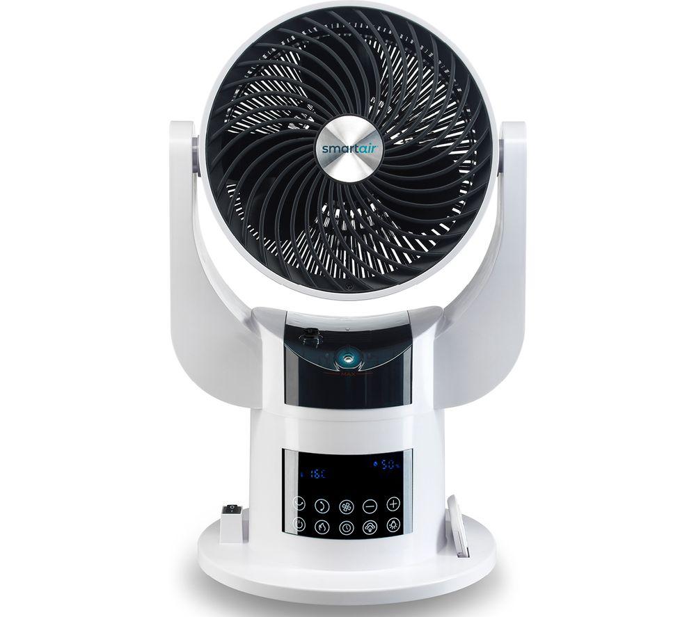 "SMART AIR Total Room 8"" Hot & Cool Turbo Fan - White & Black"