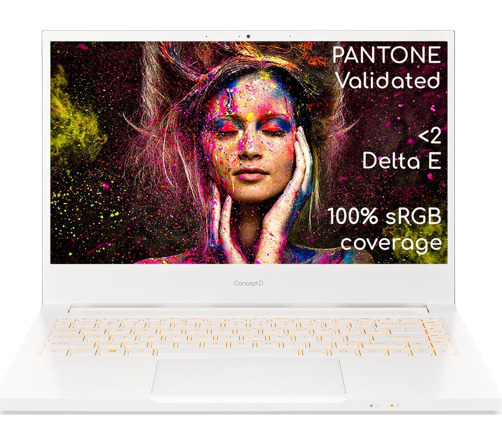 """Image of ACER ConceptD 3 14"""" Laptop - Intel®Core™ i7, 512 GB SSD, White, White"""