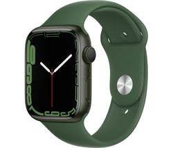 Watch Series 7 - Green Aluminium with Clover Sports Band, 45 mm