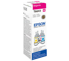 EPSON T6643 Magenta Ecotank Ink Bottle - 70 ml