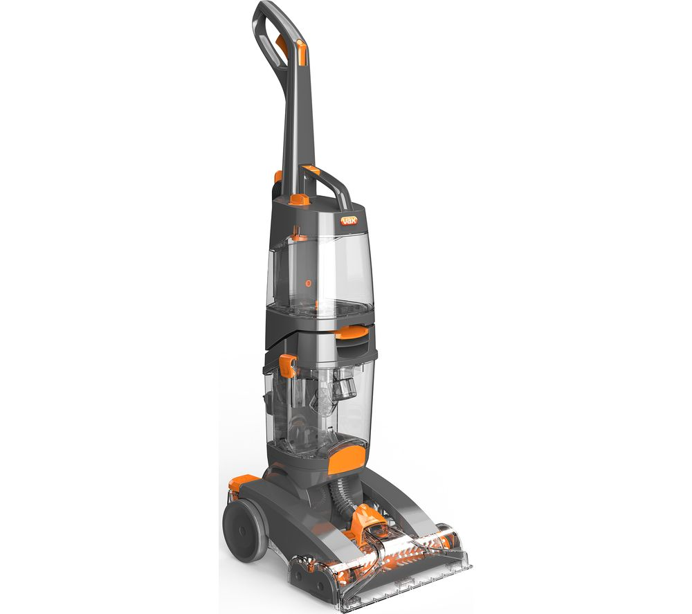 VAX Dual Power Max W86-DD-B Upright Carpet Cleaner - Orange & Grey