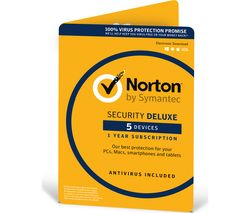 NORTON Security 2018 - 1 year for 5 devices