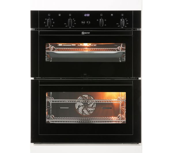 buy neff umsgb electric built  double oven black  delivery currys