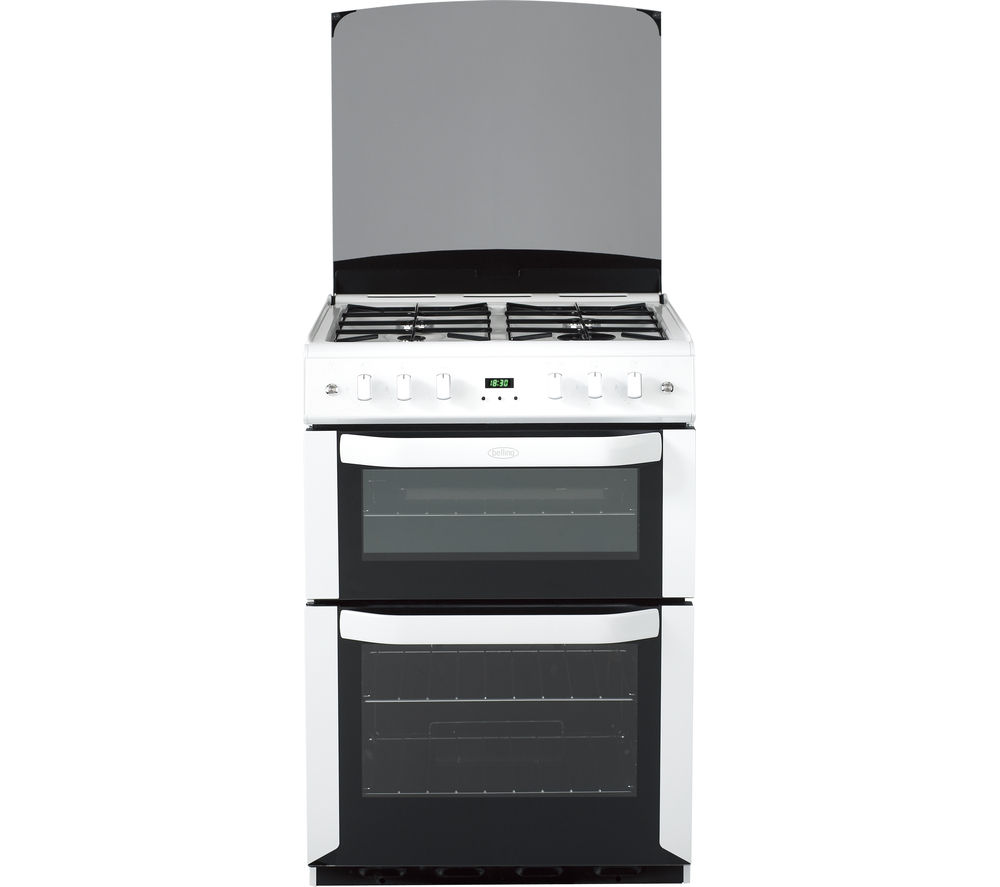 BELLING FSG60DOP 60 cm Gas Cooker - White & Black