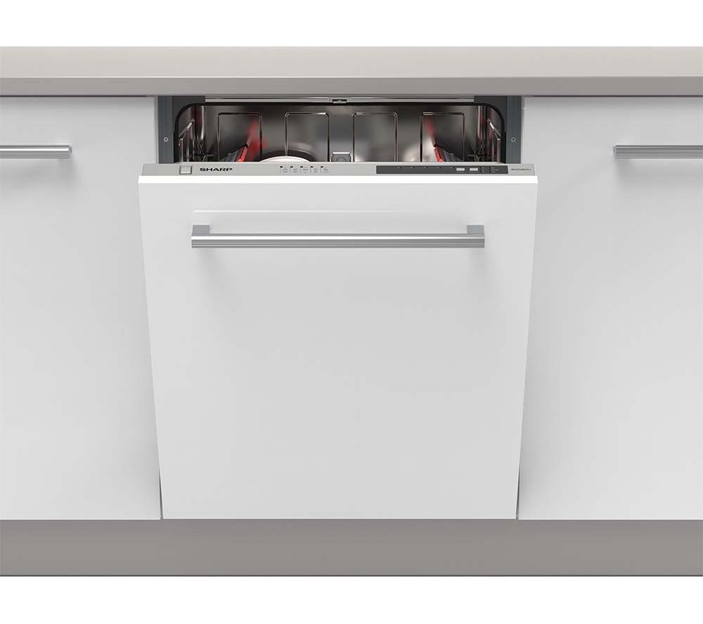 Sharp Qw D21i492x Full Size Integrated Dishwasher