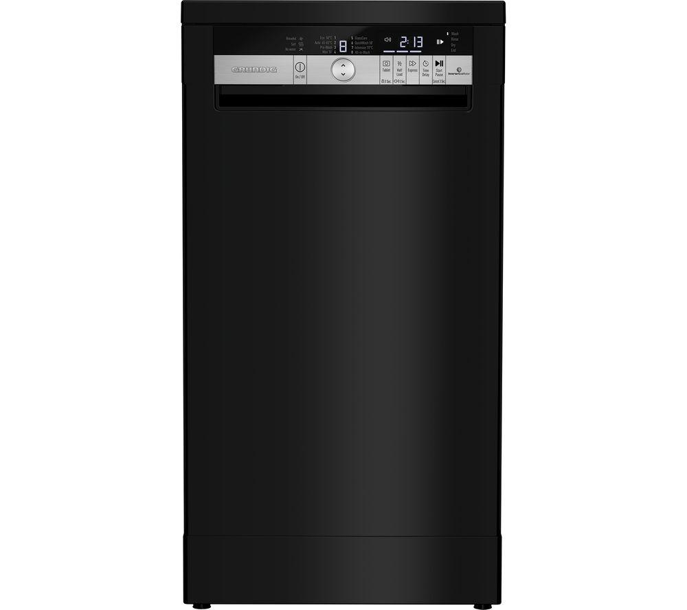 GRUNDIG GSF41820B Slimline Dishwasher - Black
