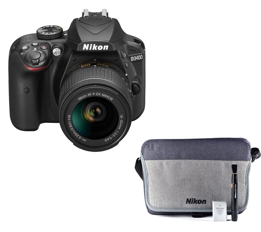 NIKON D3400 DSLR Camera with 18-55 mm f/3.5 Lens & Accessory Kit