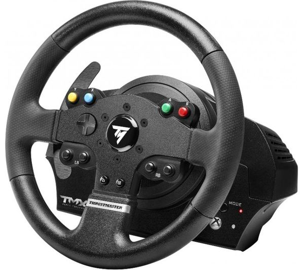 buy thrustmaster tmx force feedback pc xbox one wheel black free delivery currys. Black Bedroom Furniture Sets. Home Design Ideas