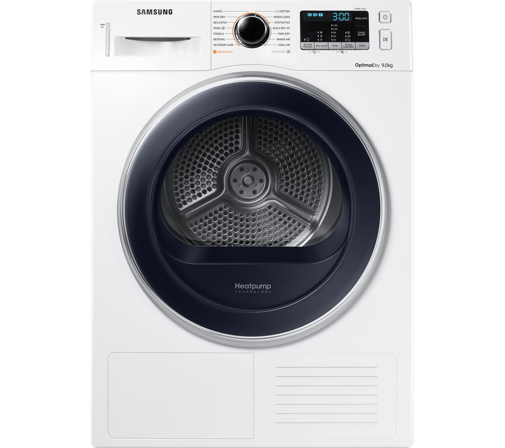 Samsung Dv90k6000cx Eu 9 Kg Heat Pump Tumble Dryer White