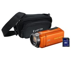 JVC GZ-R435 Camcorder, Bag & 32 GB SD Card Kit - Orange