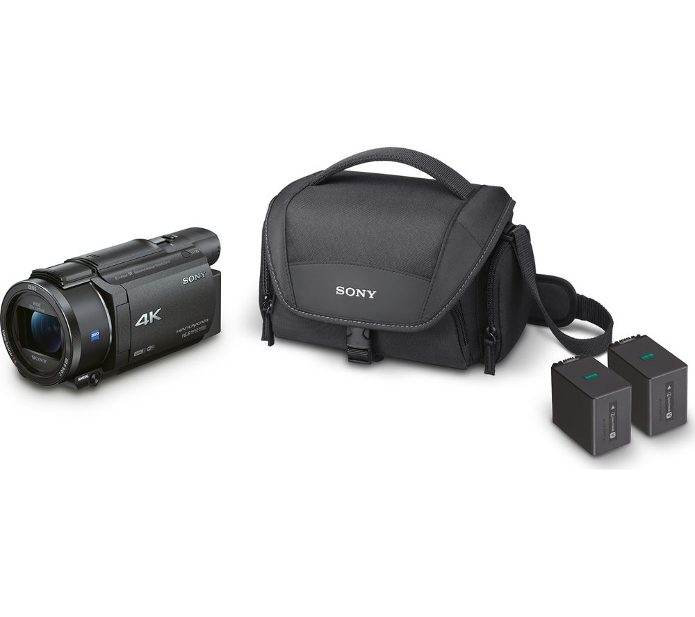 SONY FDR-AX53 Ultra HD 4K Camcorder with Battery Pack & Carry Case - Black, Black