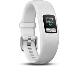 GARMIN Vivofit 4 Fitness Tracker - White, Small/Medium
