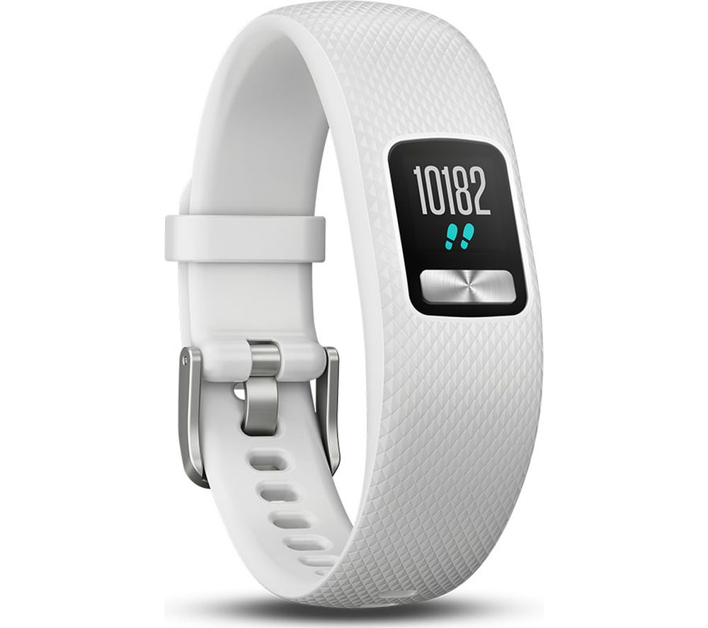 GARMIN Vivofit 4 Fitness Tracker - White, Small/Medium, White