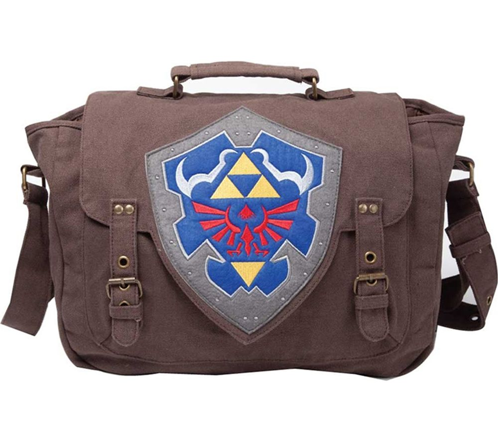 NINTENDO The Legend of Zelda Link Shield Messenger Bag - Brown