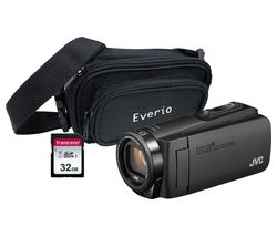 JVC GZ-R495BEK Camcorder & Accessories Bundle - Black