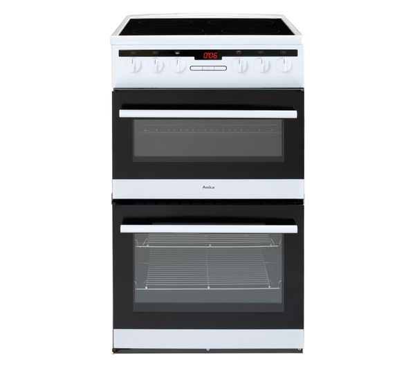 Image of AMICA AFC5550WH 50 cm Electric Ceramic Cooker - White