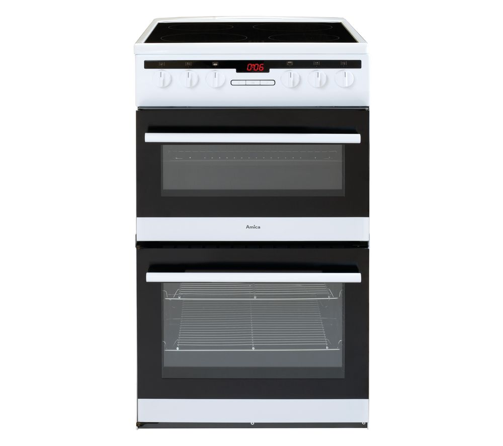 AMICA AFC5550WH 50 cm Electric Ceramic Cooker - White, White