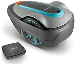 Smart Sileno City Cordless Robot Lawn Mower - Turquoise and Grey