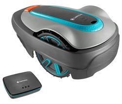 GARDENA Smart Sileno City Cordless Robot Lawn Mower - Turquoise and Grey