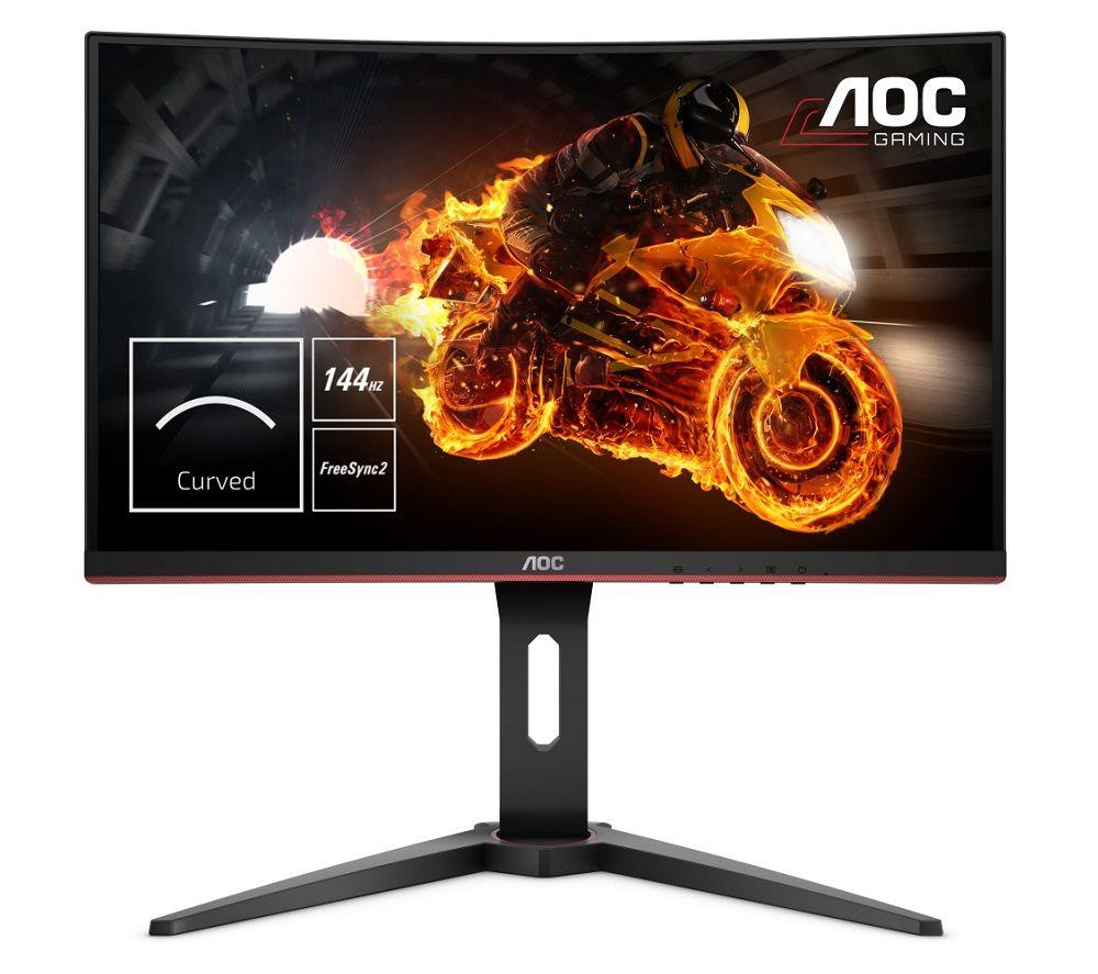 "Image of AOC C24G1 Full HD 24"" Curved VA Gaming Monitor - Black, Black"