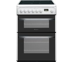 HOTPOINT DSC60P.1 60 cm Electric Ceramic Cooker - White Best Price, Cheapest Prices