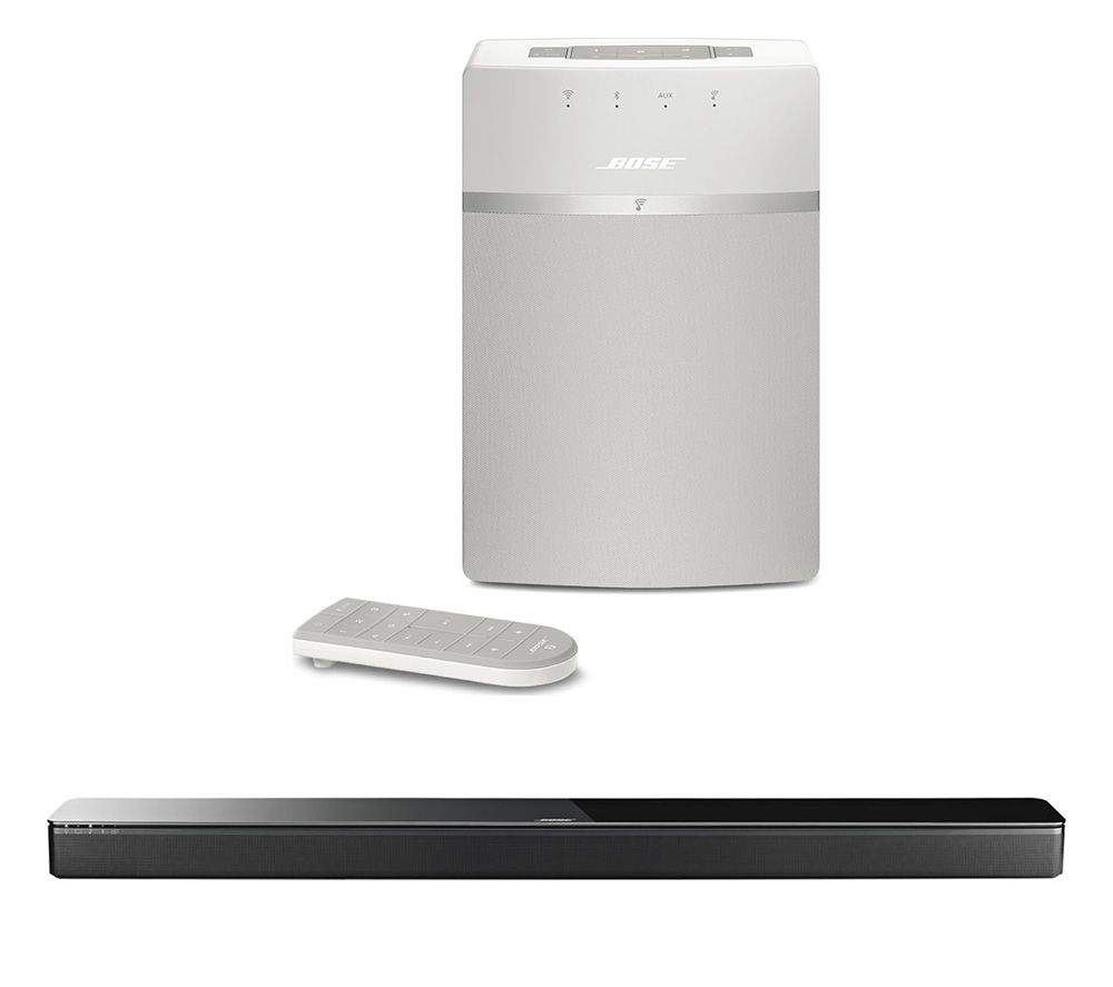 BOSE SoundTouch 300 Wireless Sound Bar & SoundTouch 10 Wireless Smart Sound Multi-Room Speaker Bundle specs