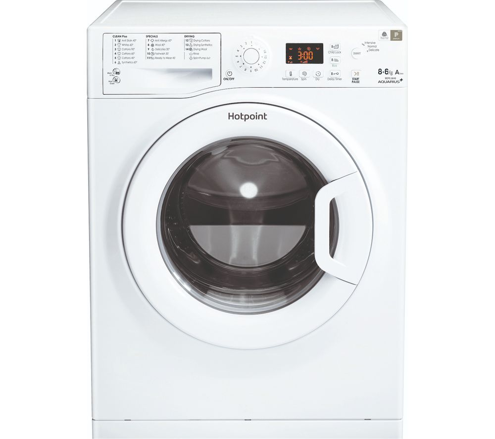 FDL 8640P 8 kg Washer Dryer - White, White