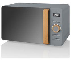 SWAN Nordic SM22036GRYN Solo Microwave - Grey