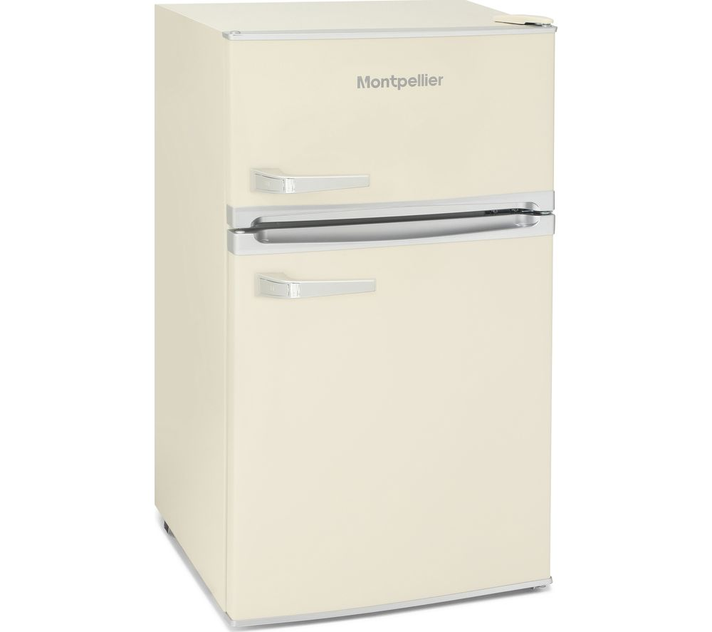 MONTPELLIER MAB2031C Undercounter Fridge Freezer - Cream, Cream