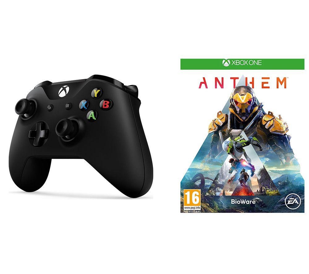 MICROSOFT Xbox One Wireless Controller & Anthem Bundle - Black