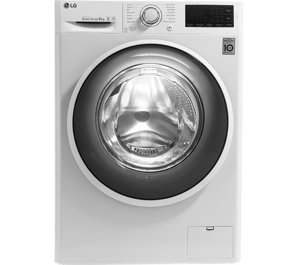 F4J608WN NFC 8 kg 1400 Spin Washing Machine - White, White