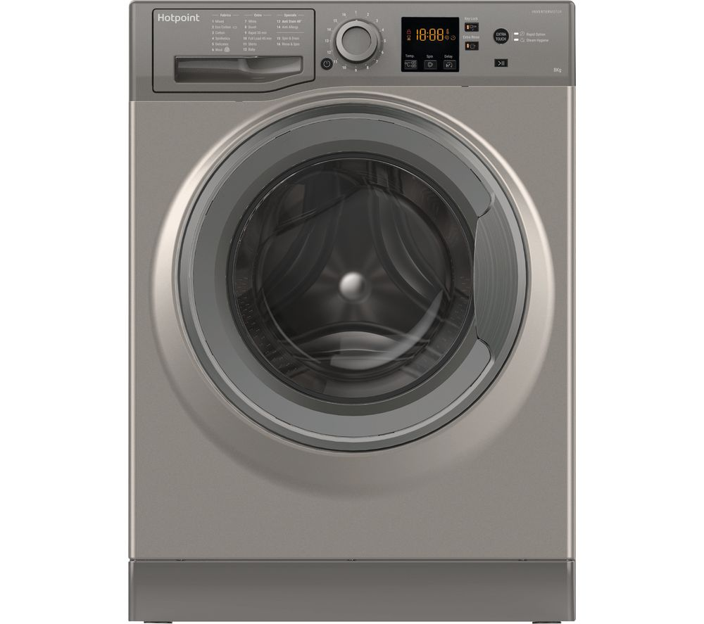 HOTPOINT NSWR 843C GK UK 8 kg 1400 Spin Washing Machine - Graphite